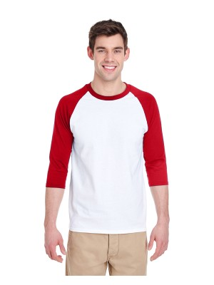 G570 Gildan Adult Heavy Cotton™ 5.3 oz. 3/4-Raglan Sleeve T-Shirt